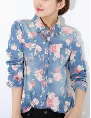 Джинсовая рубашка Flow